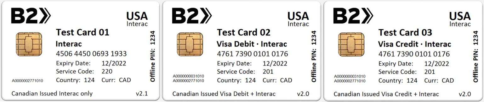 B8PS EMV Test Card Sets // B8